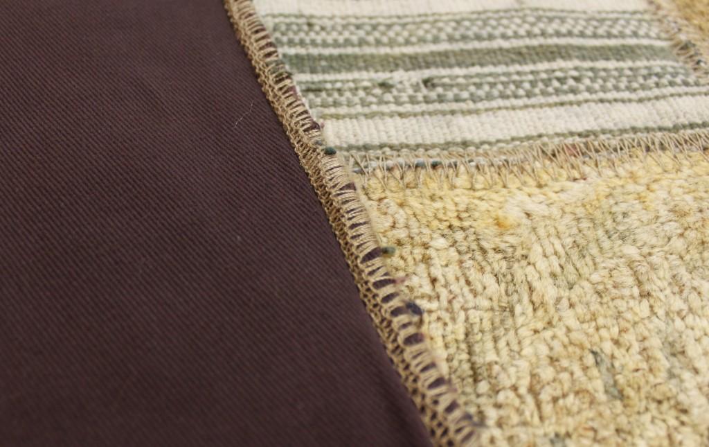 Patchwork Teppich - Naht, Bodenbesatz und Versäuberung