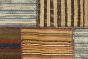 Foto eines Patchworks aus Kelim-Teppichen